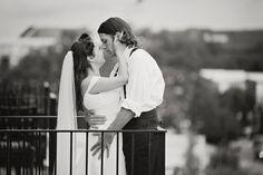 wedding photography, bride, groom, romantic, balcony, Lisa Karr Photography, Beloit Wisconsin, Find on Facebook