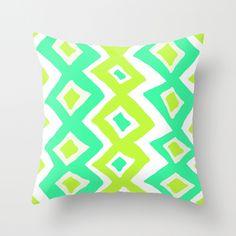 Zig & Zag Throw Pillow decor, zag art, zag throw, art prints, throw pillows