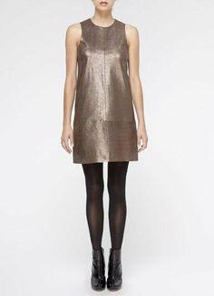 Vince Foiled Suede Dress