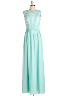 Magnificent to the Max-i Dress. When you want to show off your sweet style, slip on this mint maxi dress! #mint #wedding #bridesmaid #modcloth