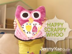 Happy Scrappy Cuddle™ Whoo- Tutorial by Jennifer Parks of Jenny Kae Quilts, features 'Happy Scrappy Whoo' by McKay Manor Musers. See it on our blog, My Cuddle Corner. Would be great for our NEW Night Owls, from the Urban Zoo collection by @Kelle Boyd / Ann Kelle - a @Robert Kaufman Fabrics  collection http://www.shannonfabrics.com/coming-soon-c-934.html - Tutorial here: http://shannonfabrics.com/blog/2014/05/04/happy-scrappy-cuddle-whoo/  #Cuddle #happyscrappycuddlewhoo #NightOwls