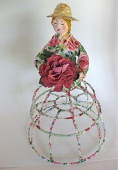 Gail making a peddler doll
