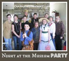 coop parti, museums, parties, homeschoolcoop, night