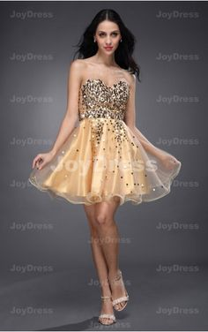 buy dresses at www.joydress.co.uk   Sparkle Sequin Ball Gown Sweetheart Short Dres