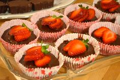 Strawberry Fudge Cups by GFC