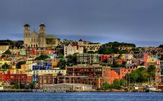 The city of St. Johns on the island of Newfoundland is arguably Canada's most colorful city, a characteristic in contrast to its otherwise chilly climate.