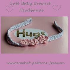 #crochet #baby #headbands Free crochet patterns perfect for baby!