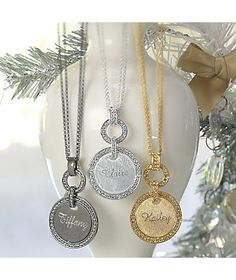 Crystal Name Pendant from Monroe and Main. A personal gift they'll treasure. www.monroeandmain.com