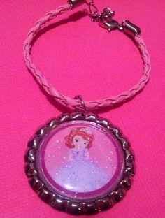 Princess Sofia The First bottlecap bracelet by TheLittleGreenWagon, $5.00