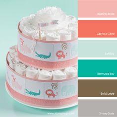 Blushing Bride, Calypso Coral, Soft Sky, Bermuda Bay, Soft Suede, Smoky Slate