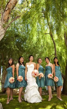 bridesmaids - love the dresses!  the perfect color