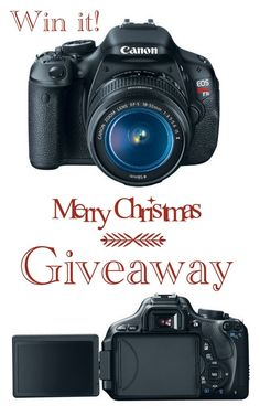 Merry Christmas Giveaway for Canon DSLR Camera (WW) 12-28