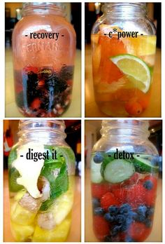 Healthy drinks. Recovery looks yummy. :)
