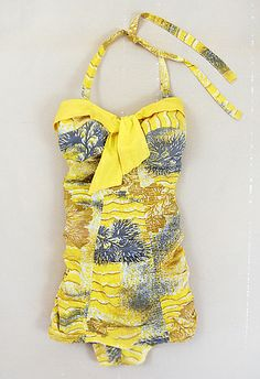 Swimsuit 1957, American, Made of cotton