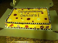 Sport banquet senior cake