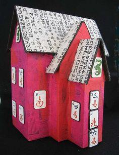 Cardboard box houses papermach, cardboard boxes, mach hous, art, paper mache, papers, cardboard box houses, papier mache, paper mâché