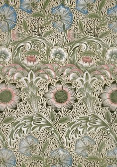 looks like William Morris to me, but love the vertical progression...