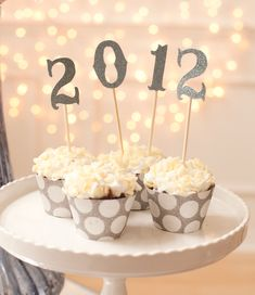 cupcake wrappers, polka dots, cupcake stands, new years party, cupcake decorations, new years eve, year eve, cupcake toppers, parti
