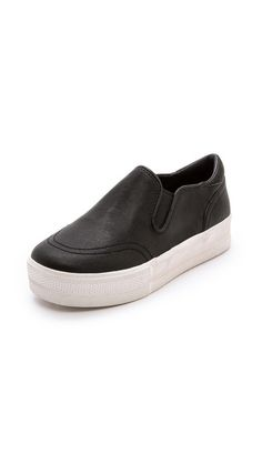 Cute but practical chunky slip-on sneakers to ease into fall.
