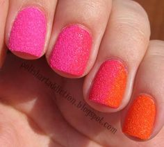 Try this matte glitter mani for a 3D gradient look.