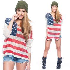 American Prdie Sweater!! $39