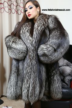 Huge Thick Long Fur sleeves, I Love to watch them Tossing and Tumbling! When I Pleasure, If you know what I mean!!! www.fetishmistressuk.com fox coat, fox fur, sleev, fur coat, silver foxes, silverblack fox, rare silverblack, fur fetish, coats