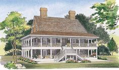 Eplans Country House Plan - Two Levels of Wraparound Porches - 2240 Square Feet and 3 Bedrooms from Eplans - House Plan Code HWEPL00849