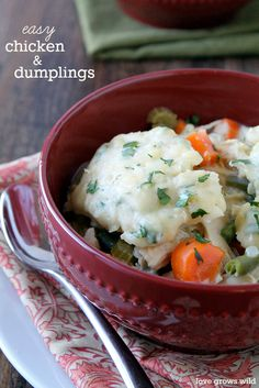 Easy Chicken and Dumplings