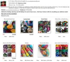 You can find the page at http://www.ravelry.com/yarns/brands/saras-texture-crafts   Don't forget the new Ravelry features allow you to now stash fibre, before you hand spin it and then catalogue it as hand spun later... a great way to keep on top of what you have in your stash when you are out shopping too!