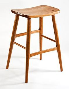 Beautiful bar stools by Gary Weeks, sculpted yet not overdone.