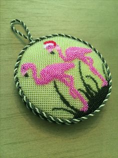 Gusseted Flamingo Ornament