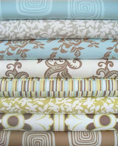 Beach colored fabrics for bedding