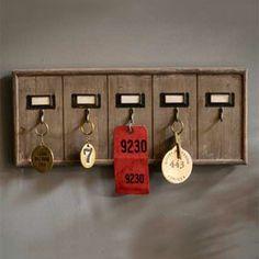 Rustic Wooden Key Rack