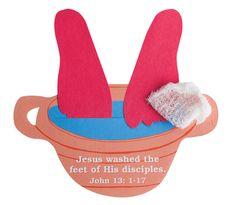 kids bible crafts jesus washes the disples feet | ... Easter Crafts into your Program | Guildcraft Arts & Crafts Blog