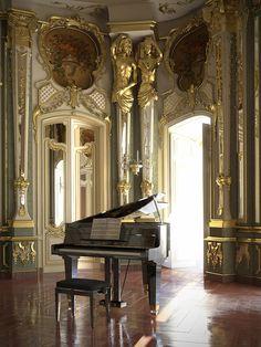 Queluz National Palace ballroom, Portugal by Barbara Witwoska