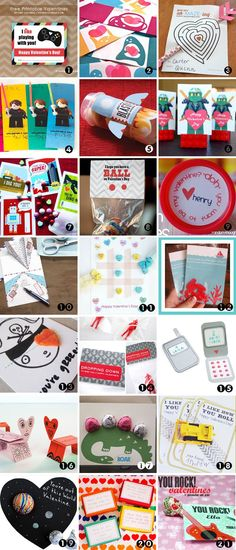 Pretty cool! 21 FREE Printable Valentine Cards for Boys - Spaceships and Laser Beams