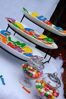 Letter and Number Cookies street party, street birthday, birthday parties, birthdays, birthday idea, cooki, sesam street, rainbow birthday, 2nd birthday