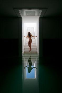 Indoor pool at Casa Fez by Alvaro Leite Siza Vieira