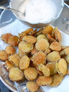 Fried Pickles with Spicy Ranch Dip - LouLou Sucre