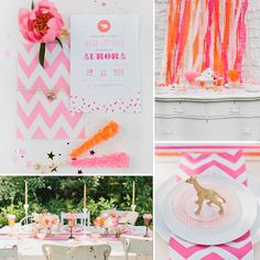 A glam gold and neon baby shower is guaranteed fun! #PopSugarMoms