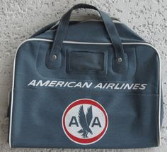 1950 vintage flight retro bag from american airlines