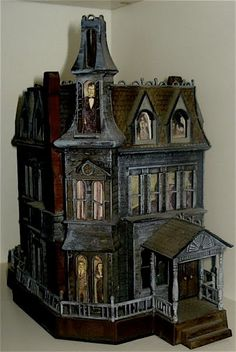 Addams Family mansion model