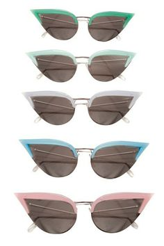 cat eye sun glasses pink and white one please