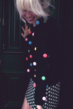pom poms and polka dots
