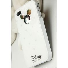 Disney Small Mickey hard case cover white for iPhone 4 4s