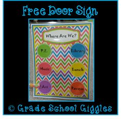 If people need to be able to find your class when you leave the room this freebie is for you,