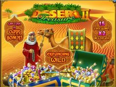 http://www.onlineslotgames4u.com/play/desert-treasure-2-slot-game/  Uncover the secret of the desert and get rich with the amazing cash prizes and bonus rounds this amazing slot has to offer!