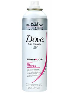 Hair (dry shampoo): A blast of Dove Refresh + Care Dry Shampoo builds impressive height while giving your day-old blowout a second wind