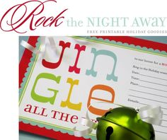 Free Christmas party invite + so many amazing printables.  @A Whole Lotta Love.obsess.inspire