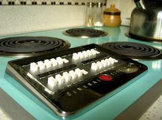 memori, push button, 70s, button stovevintag, ge stove